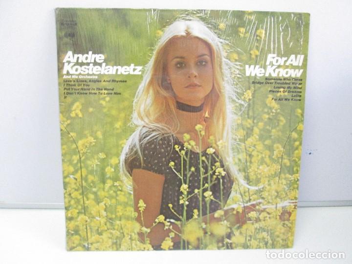 ANDRE KOSTELANETZ AND HIS ORCHESTRA. FOR ALL WE KNOW. DISCO DE VINILO. VER FOTOGRAFIAS ADJUNTAS (Música - Discos - Singles Vinilo - Orquestas)