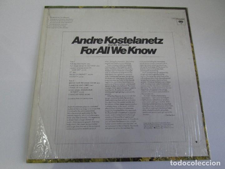 Discos de vinilo: ANDRE KOSTELANETZ AND HIS ORCHESTRA. FOR ALL WE KNOW. DISCO DE VINILO. VER FOTOGRAFIAS ADJUNTAS - Foto 6 - 78386565