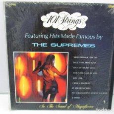 Discos de vinilo: 101 STRINGS. FEATURING HITS MADE FAMOUS BY THE SUPREMES. DISCO DE VINILO. VER FOTOGRAFIAS. Lote 78390781