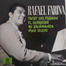 Discos de vinilo: RAFAEL FARINA. TWIST DEL FARAON. EP. Lote 78417869