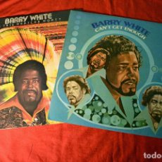 Discos de vinilo: BARRY WHITE - LOTE 2 LPS - CAN´T GET ENOUGH + IS THIS WHATCHA WONT? - LPS SPAIN EX+/EX+. Lote 78462765