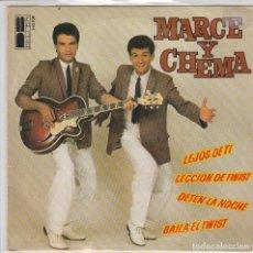 Disques de vinyle: MARCE Y CHEMA / BAILA EL TWIST + 3 (EP 1980). Lote 78480793
