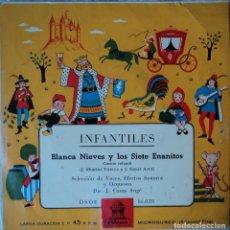 Discos de vinilo: BLANCA NIEVES Y LOS SIETE ENANITOS - EDICIÓN DE ESPAÑA. Lote 78490053