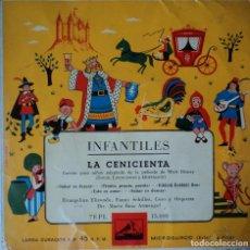 Discos de vinilo: LA CENICIENTA - EDICIÓN DE ESPAÑA. Lote 78493717