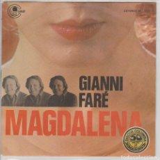 Discos de vinilo: GIANNI FARE / MAGDALENA / COSA DIRO (SINGLE PROMO 1972). Lote 78502013