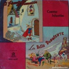 Discos de vinilo: EL FLAUTISTA DE HAMELIN / LA BELLA DURMIENTE - EDICIÓN DE ESPAÑA. Lote 78518745