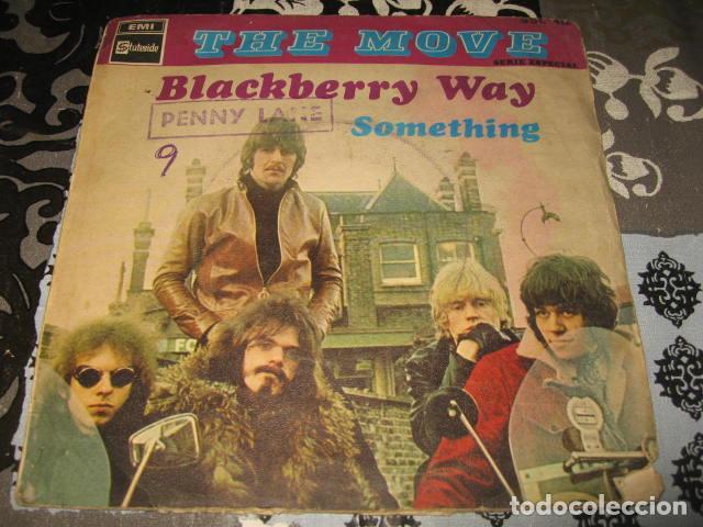 2 SINGLE THE MOVE BLACKBERRY WAY / FLOWERS IN THE RAIN - AÑO 1967 68 SPAIN (Música - Discos - Singles Vinilo - Pop - Rock Extranjero de los 50 y 60)