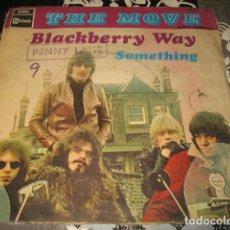 Discos de vinilo: 2 SINGLE THE MOVE BLACKBERRY WAY / FLOWERS IN THE RAIN - AÑO 1967 68 SPAIN. Lote 78533657