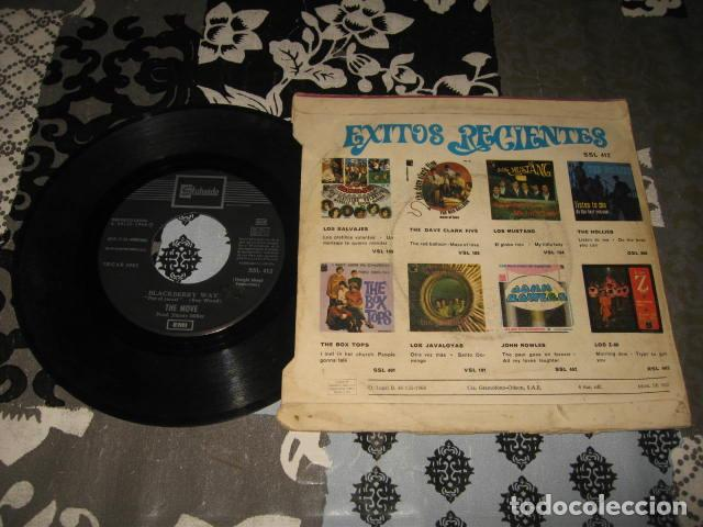 Discos de vinilo: 2 Single THE MOVE Blackberry Way / Flowers in the rain - año 1967 68 Spain - Foto 2 - 78533657