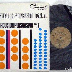 Discos de vinilo: TERRY SNYDER Y SUS ESTRELLAS - PERCUSIÓN PERSUASIVA VOL.1 LP G+ VG+SPANISH PRESS. Lote 112117806