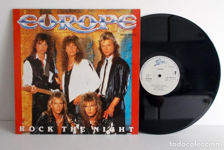 EUROPE - ROCK THE NIGHT - SPANISH SLEEVE MAXI SINGLE 4 TRACKS VG+ VG+ (Música - Discos de Vinilo - Maxi Singles - Heavy - Metal)