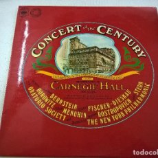 Discos de vinilo: CONCERT OF THE CENTURY RECORDED LIVE AT CARNEGIE HALL, MAY 18, 1976. 2LPS.J.S.BACH.BEETHOVEN-N. Lote 78603585