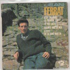 Discos de vinilo: JEAN FERRAT / C'EST TOUJOURS LA PREWMIERE FOIS + 3 (EP FRANCES). Lote 78608989