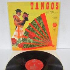 Dischi in vinile: JUAN PEREZ - TANGOS - LP - SUPER MAJESTIC 1966 FRANCE. Lote 78622169