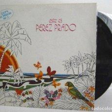 Discos de vinilo: PÉREZ PRADO - ESTE ES PÉREZ PRADO - 2LP EX VG++ RCA SPAIN 1973. Lote 78657593