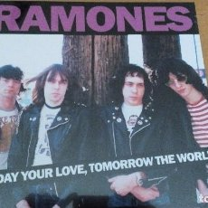 Discos de vinilo: RAMONES TODAY YOUR LOVE, TOMORROW THE WORLD - LIVE AT THE OLD WALDORF, SAN FRANCISCO 1978 LP. Lote 78669273