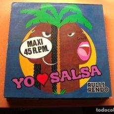 Discos de vinilo: RULLI RENDO YO AMO SALSA MAXI,SPAIN 1985 PDELUXE. Lote 78681709