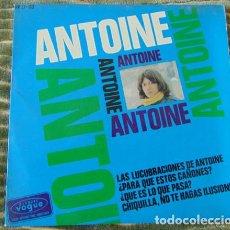 Discos de vinilo: ANTOINE – LAS LUCUBRACIONES DE ANTOINE + 3 - EP. Lote 78721901