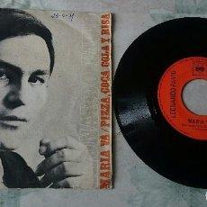 Discos de vinilo: LEONARDO FAVIO: MARÍA VA / PIZZA, COCA COLA Y RISA (CBS 1971). Lote 78765057