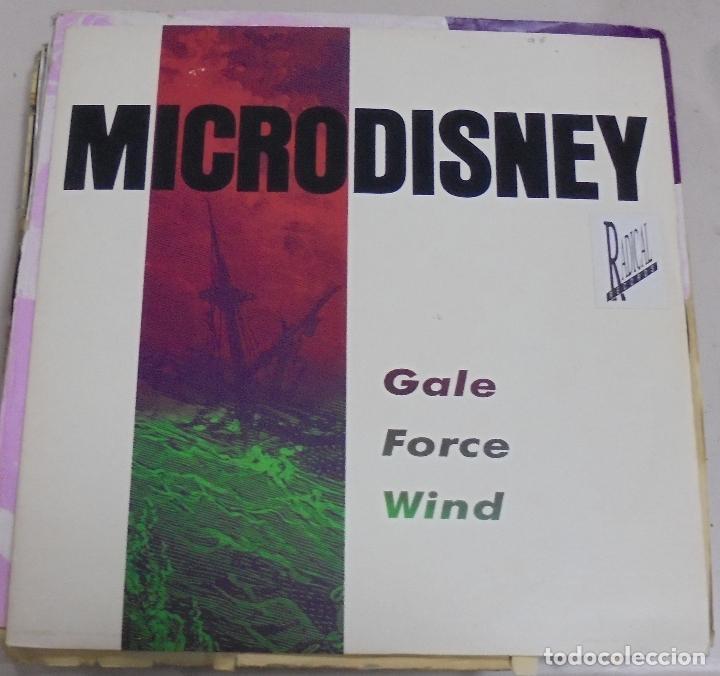 LP. MICRODISNEY. GALE FORCE WIND. 1988. VIRGIN RECORDS (Música - Discos - LP Vinilo - Otros estilos)