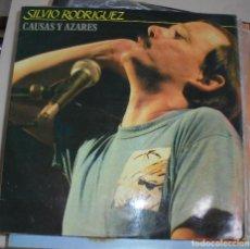Discos de vinilo: LP DOBLE. SILVIO RODRÍGUEZ. CAUSAS Y AZARES. FONOMUSIC. 1986.. Lote 86157876