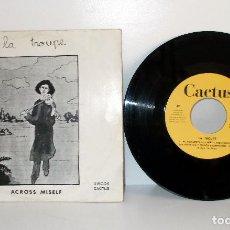 Discos de vinilo: LA TROUPE - ACROSS MISELF - SINGLE SPAIN 1970 VG++ VG++ PSYCH. FOLK, PROGRESS. Lote 78837237