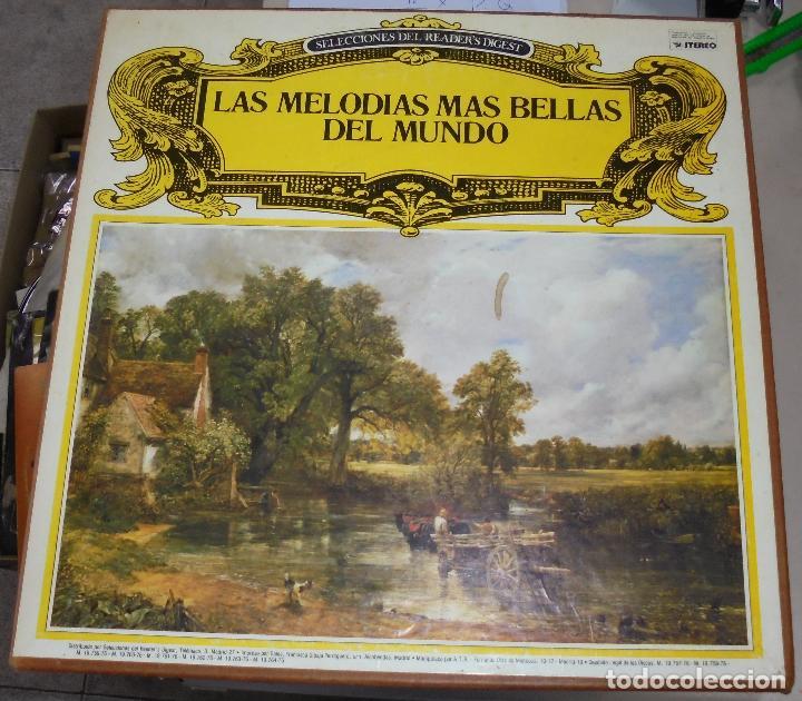 CAJA DE LP. LAS MELODIAS MAS BELLAS DEL MUNDO. SELECCIONES DE READER'S DIGEST. 1976 (Música - Discos - LP Vinilo - Clásica, Ópera, Zarzuela y Marchas)