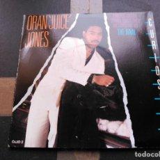 Discos de vinilo: 2 SINGLE ORAN JUICE JONES - CURIOSITY - DEF JAM UK 1986 VG+ GATEFOLD. Lote 78904965