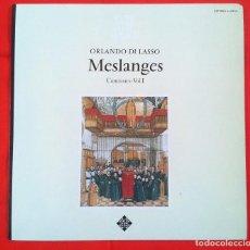 Discos de vinilo: ORLANDO DI LASSO - MESLANGES - CANCIONES VOL 1 (LP) TELEFUNKEN. Lote 78919385
