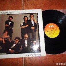 Discos de vinilo: MOCEDADES AMOR DE HOMBRE LP VINILO PORTADA DOBLE 1982 CORAZON DE FIESTA TALISMAN DONDE ESTAS CORAZON. Lote 78923429
