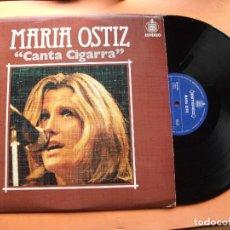 Discos de vinilo: MARIA OSTIZ CANTA CIGARRA LP SPAIN 1976 PDELUXE . Lote 78926017