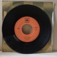 Discos de vinilo: ANDY WILLIAMS BSO LOVE STORY / TONIGHT - MARIA (SINGLE 1962.EDICION ITALIANA),SIN CARTULA ORIGINAL. Lote 111631010