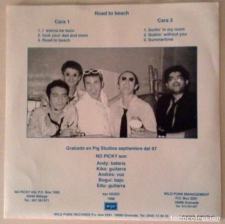 Discos de vinilo: No picky ep Road to beach vinilo azul wild punk Records más adhesivo - Foto 2 - 78937929