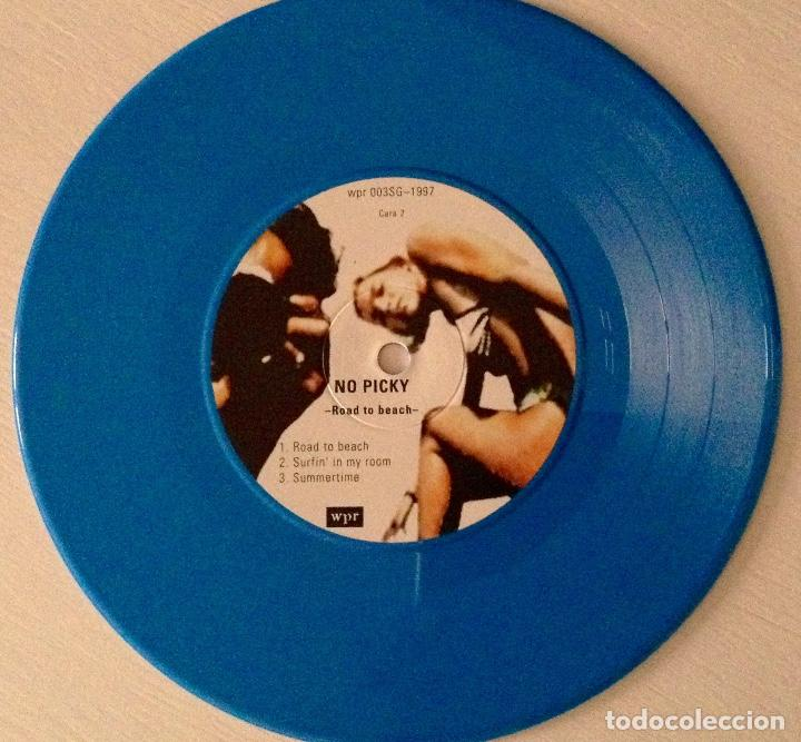 Discos de vinilo: No picky ep Road to beach vinilo azul wild punk Records más adhesivo - Foto 3 - 78937929