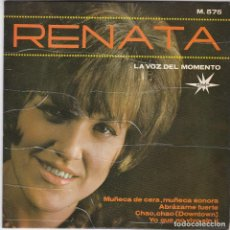 Discos de vinilo: SINGLE. RENATA. 1965. SPAIN (DISCO PROBADO Y BIEN, CARÁTULA SIN DEFECTOS) ÚNICO EN TC. Lote 78945285