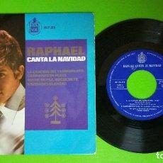 Discos de vinilo: RAPHAEL CANTA LA NAVIDAD 45 RPM. Lote 78947765