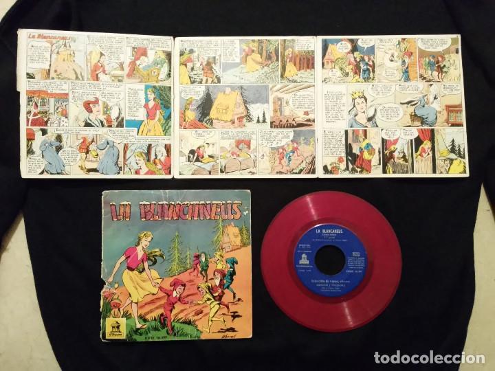 SINGLE - LA BLANCANEUS - BLANCANIEVES - DISCOS - ODEON 1960 + CUENTO (Música - Discos - Singles Vinilo - Música Infantil)