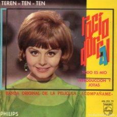 Discos de vinilo: ROCIO DURCAL - FILM ACOMPAÑAME, EP, TEREN TEN TEN + 2, AÑO 1966. Lote 78966313