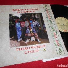 Discos de vinilo: JOHNNY CLEGG & SAVUKA THIRD WORLD CHILD LP 1989 EMI GATEFOLD EDICION ESPAÑOLA SPAIN. Lote 79023785