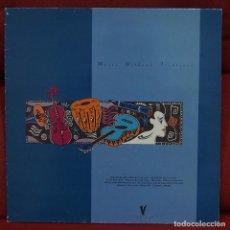 Discos de vinilo: MUSIC WITHOUT FRONTIERS V2646 VENTUR RECORDS 1987 CON NIEBLA (ATILA), ROEDELIUS, KLAUS SCHULZE... Lote 79049853
