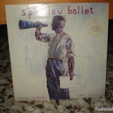 Discos de vinilo: SPANDAU BALLET, MAXISINGLE ONLY WHEN YOU LEAVE. CONTIENE PÓSTER DEL GRUPO. (UK). Lote 79052897