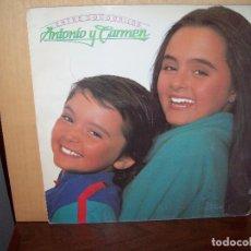 Discos de vinilo: ANTONIO Y CARMEN - ENTRE COCODRILOS - LP 1983. Lote 79056065