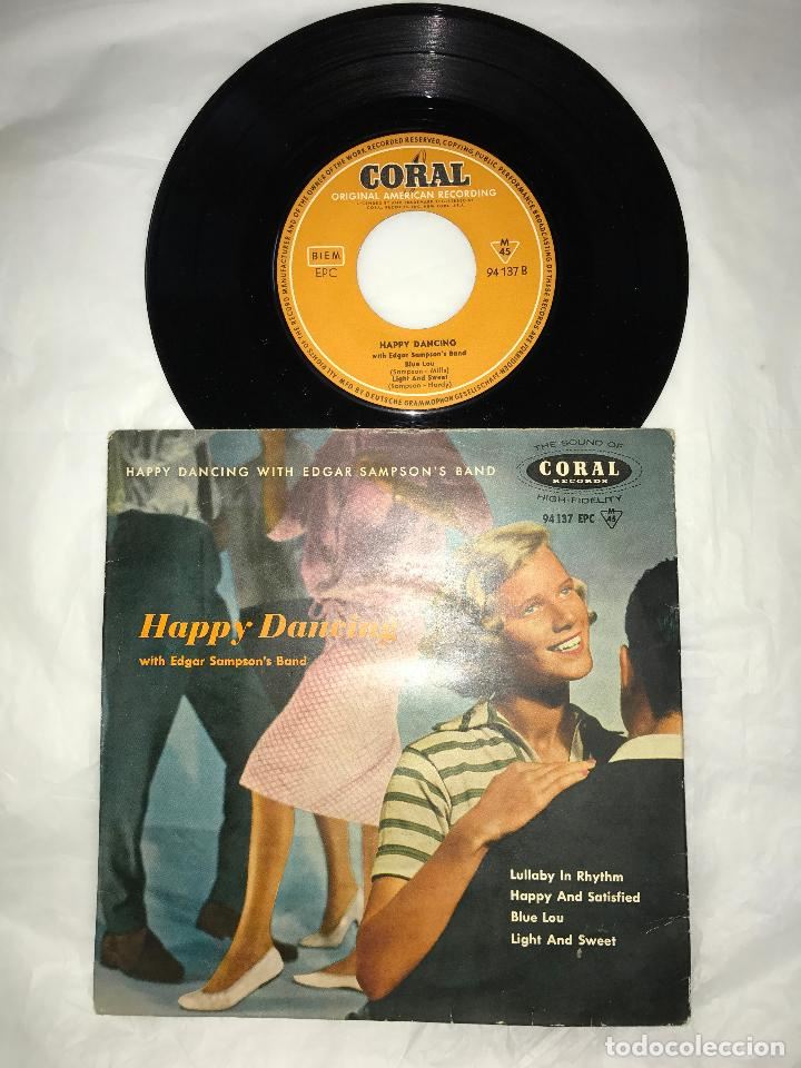 EP HAPPY DANCING WITH EDGAR SAMPSON'S BAND - LULLABY IN RHYTHM+3 - CORAL RECORD 1956, GERMANY (Música - Discos de Vinilo - EPs - Disco y Dance)