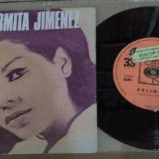 Discos de vinilo: CARMITA JIMENEZ PELIGRO GRITA SINGLE MUY DIFICIL DE VER . Lote 79061389