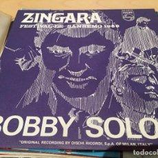 Discos de vinilo: RA110ZINGARA / FESTIVAL DE SAN REMO 1969 / BOBBY SOLO / SINGLE PHILIPS DE 1969 RF-1809 , BUEN ESTADO. Lote 79063773