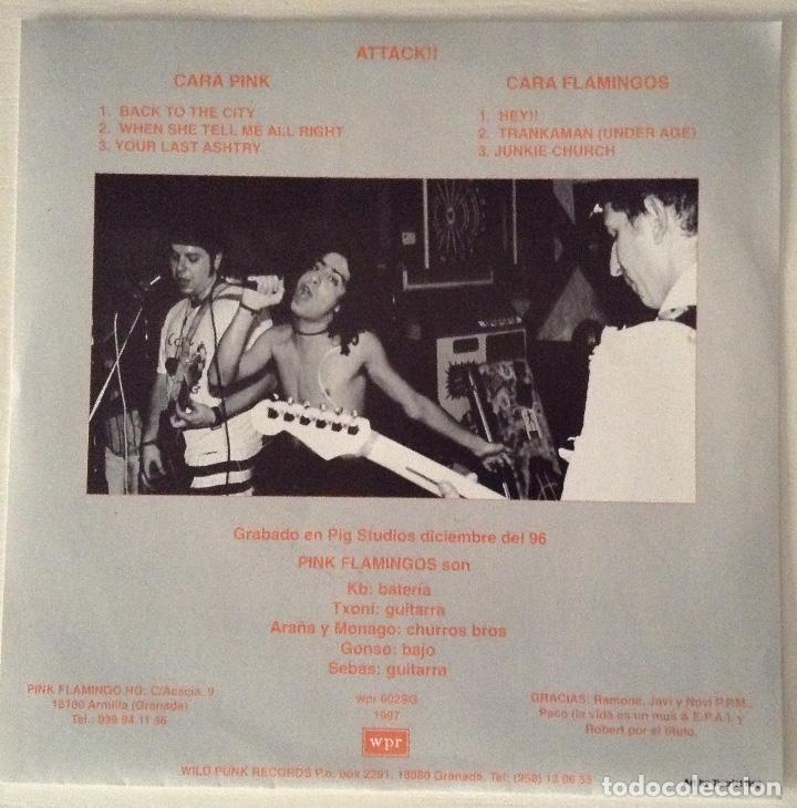 Discos de vinilo: Pink Flamingos Attack!! EP vinilo rosa Wild Punk Records - Foto 2 - 79066769
