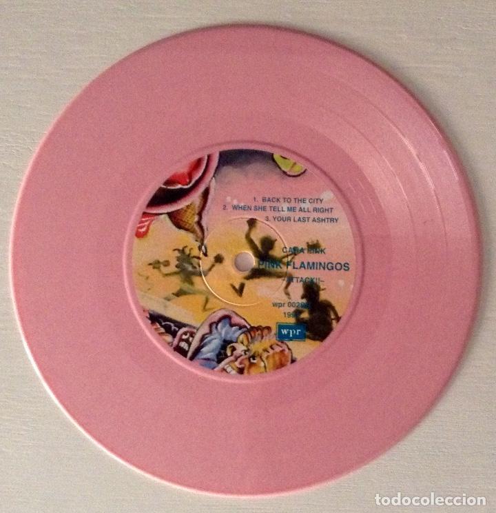 Discos de vinilo: Pink Flamingos Attack!! EP vinilo rosa Wild Punk Records - Foto 3 - 79066769