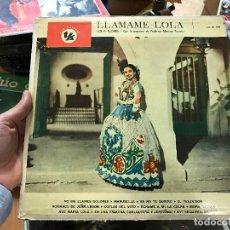 Discos de vinilo: LOLA FLORES LP SELLO TK EDICCIÓN ARGENTINA. LLAMAME LOLA CON LA ORQUESTA DE FEDERICO MORENO TORROBA. Lote 79067433