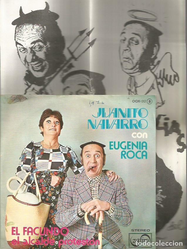 JUANITO NAVARRO Y EUGENIA ROCA SINGLE SELLO ZAFIRO AÑO 1976 PROMOCIONAL EDITADO EN ESPAÑA +2 HOJAS I (Música - Discos - Singles Vinilo - Bandas Sonoras y Actores)