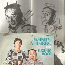 Discos de vinilo: JUANITO NAVARRO Y EUGENIA ROCA SINGLE SELLO ZAFIRO AÑO 1976 PROMOCIONAL EDITADO EN ESPAÑA +2 HOJAS I. Lote 79070001